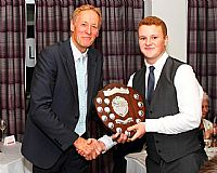 Alex Green collects the Tim Cook Memorial Shield for All Rounder of the Year